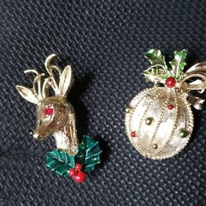 Vintage Gerry's Christmas ornament brooch